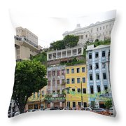 Lacerda Elevator In Salvador Throw Pillow