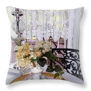 Lacey Curtain And Pastry Throw Pillow