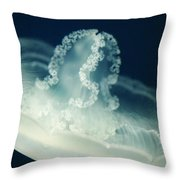 Lacey Jellyfish Throw Pillow