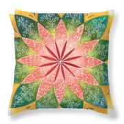 Lacey Petals Mandala Throw Pillow by Andrea Thompson