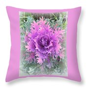 Lacey Plant Throw Pillow