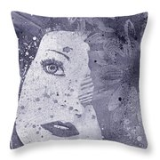 Lack Of Interest - Silver Throw Pillow