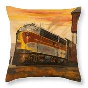 Lackawanna Fast Freight Throw Pillow