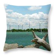 Lackawanna Wind Farm 5079 Throw Pillow