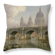 Blackfriars Bridge And St Paul's Cathedral Throw Pillow