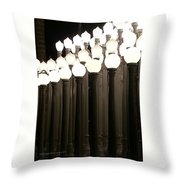 Lacma Lights 4 Throw Pillow