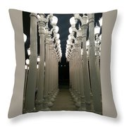 Lacma Lights 8 Throw Pillow