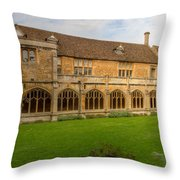 Lacock Abbey Cloisters 1 Throw Pillow