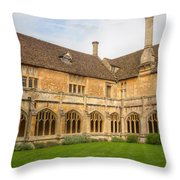 Lacock Abbey Cloisters 2 Throw Pillow