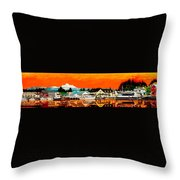 Laconner Last Water Front Panel Painting Throw Pillow
