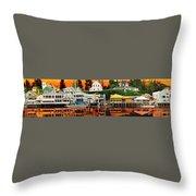 Laconner Waterfront Art Panel Throw Pillow