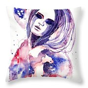 Lacrima Nebula  Throw Pillow by Alexandra-Emily Kokova