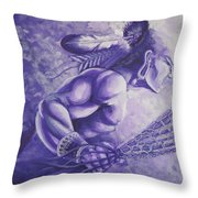 Lacrosse  Throw Pillow by Kerdy Mitcho