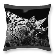 Lacy Black And White Throw Pillow
