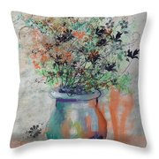 Lacy Bouquet Throw Pillow