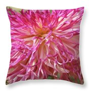 Lacy Dahlia Macro Throw Pillow