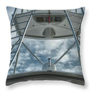Ladders On A Fishing Boat Throw Pillow