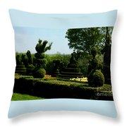 Ladew Topiary Gardens Throw Pillow