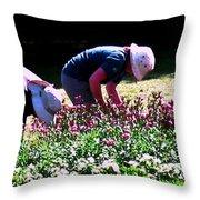 Ladies At Work  Throw Pillow