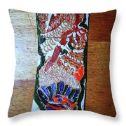 Ladies Await 10 Throw Pillow