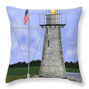 Ladies Delight Lighthouse Maine Throw Pillow