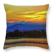 Ladies In The Sky Throw Pillow