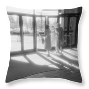 Ladies Leaving The Mall  Throw Pillow