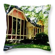 Ladies Library Brewster Ma Throw Pillow