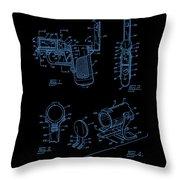 Ladies Pistol Compact Patent Art Throw Pillow