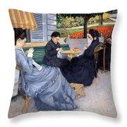 Ladies Sewing Throw Pillow
