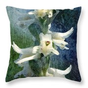 Ladies-tresses Orchid Throw Pillow
