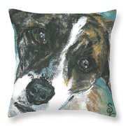 Lady 2 Throw Pillow
