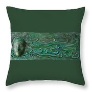 Lady Abstract Wall Sculpture Throw Pillow