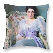 Lady Agnew Throw Pillow