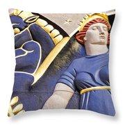 Lady And Her Pegasus Stallion Throw Pillow