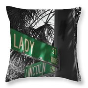Lady And Lincoln Throw Pillow