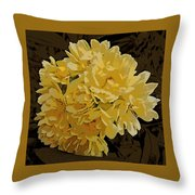 Lady Banks Rose Cluster Throw Pillow