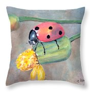 Lady Bug - Lady Bug... Throw Pillow