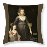 Lady Cavendish Later Countess Throw Pillow
