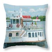 Lady Chadwick Boat - Cabbage Key Island, Florida Throw Pillow