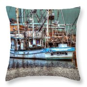Lady De Ette Throw Pillow by Michael Thomas