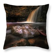 Lady Falls Waterfall Country Throw Pillow