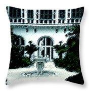 Lady Fountain Throw Pillow