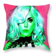 Lady Gaga Throw Pillow