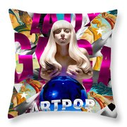 Lady Gaga Graphic Art Throw Pillow