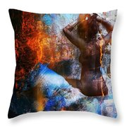Lady Godiva Throw Pillow