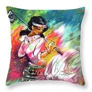 Lady Golf 02 Throw Pillow