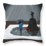 Lady In Blue 3d Throw Pillow