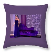 Lady In Lilac Room Throw Pillow