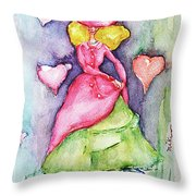 Lady In Love Throw Pillow